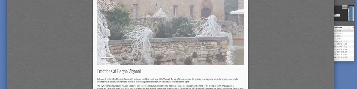 Emotions at Bagno Vignoni